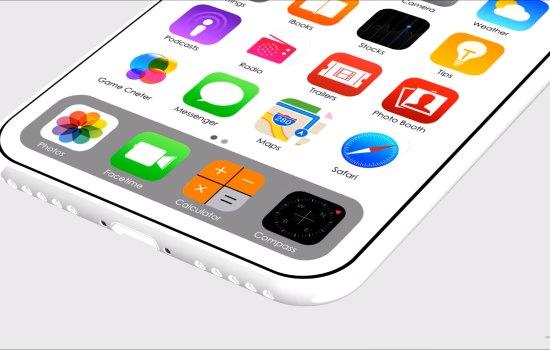 Een witte iPhone 8