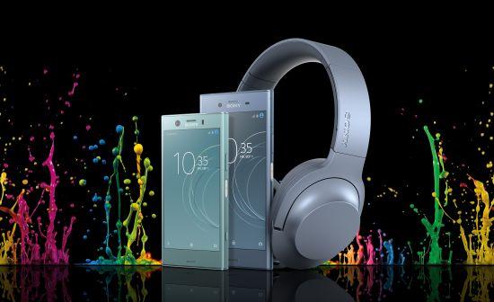 De Xperia XZ1, XZ1 Compact en Noise Cancelling Headphones bij elkaar