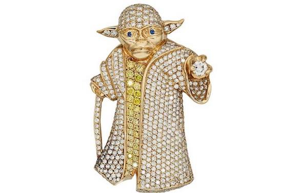 Deze diamanten Yoda moet een flink bedrag gaan opleveren