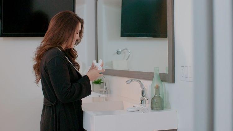 Tanden poetsen zonder handen