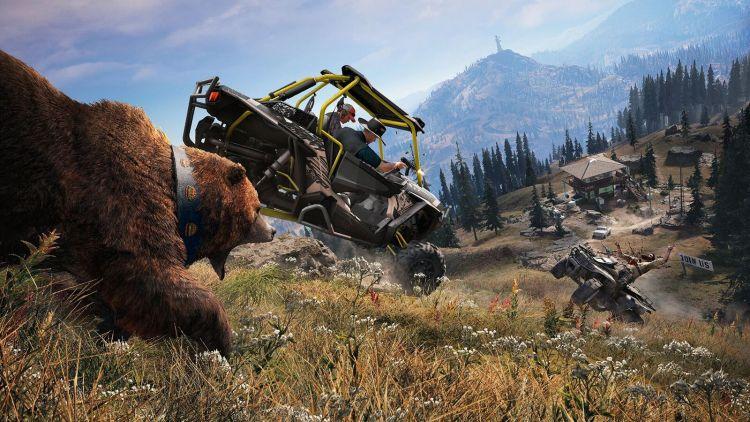 Far Cry 5 zit tjokvol voertuigen, guns en fucking beren
