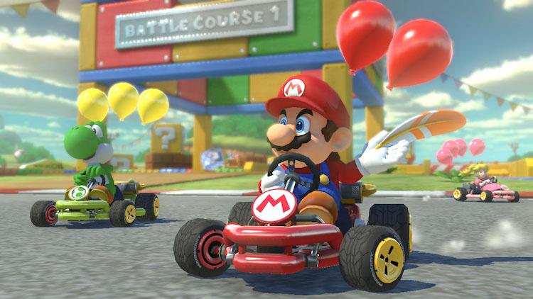 Mario Kart 8 op de Nintendo Switch