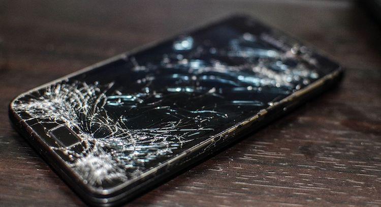Gebroken smartphonescherm