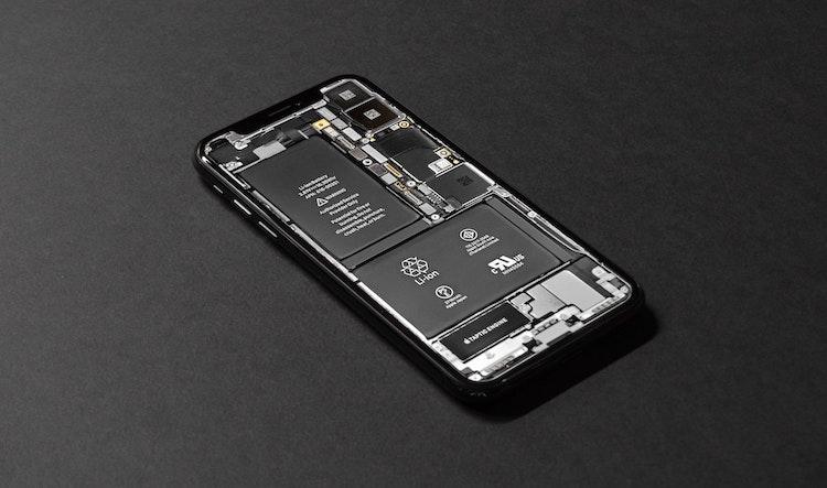 De accu van een iPhone