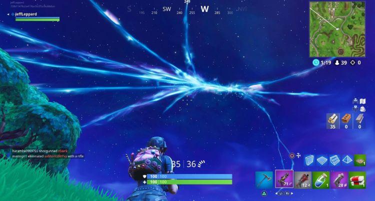 De map van Fortnite lijkt langzaam te verdwijnen