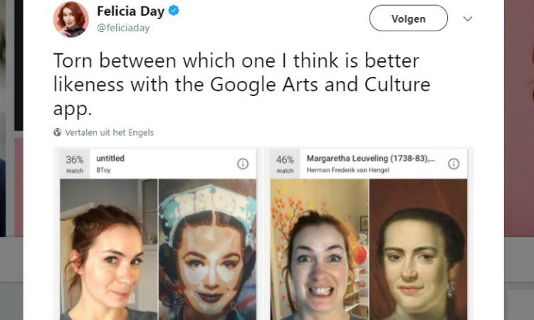 Google artistieke dubbelganger app razend populair