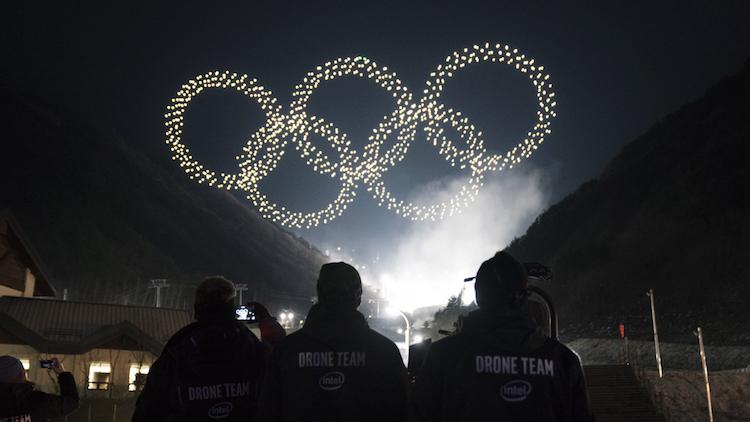 Pijnlijk: indrukwekkende droneshow Winterspelen was helemaal niet live