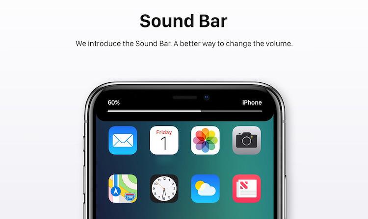 iOS 12 sound bar