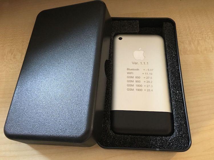Prototype van de eerste iPhone
