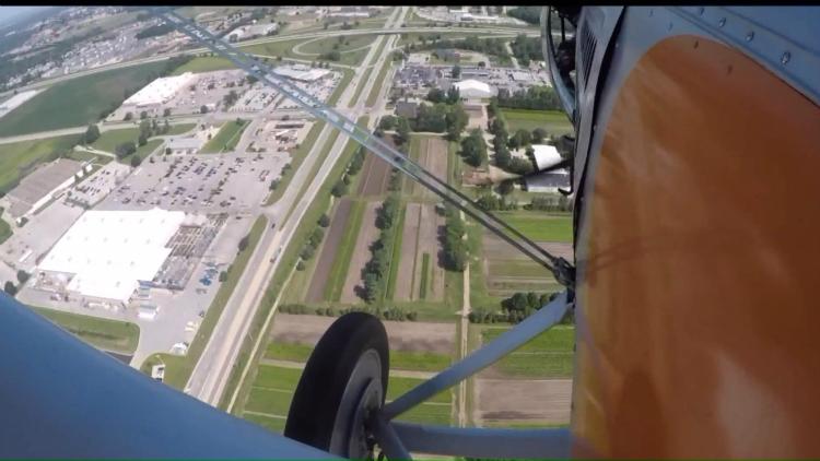 iPhone val vanuit vliegtuig