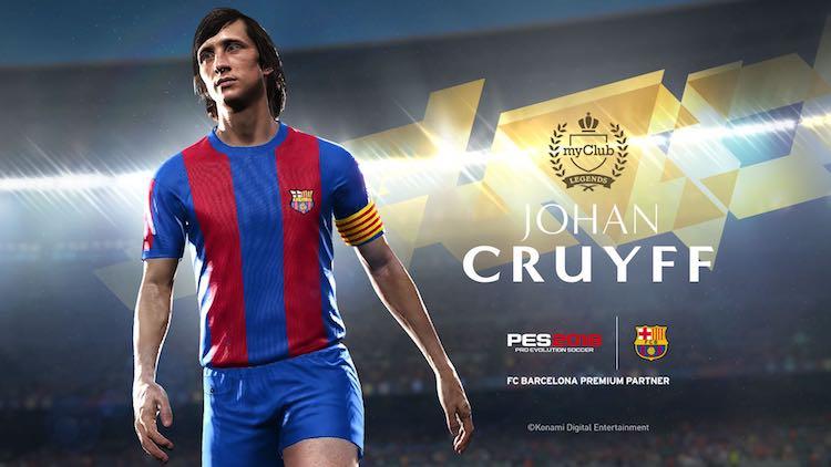 Voetballegende Johan Cruyff komt naar PES18