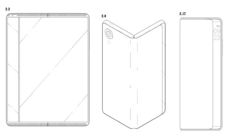 Het tweede model is wederom een tablet, opvouwbaar met camera, maar met een doorzichtige strook (links op tablet, rechts wanneer opgevouwen)