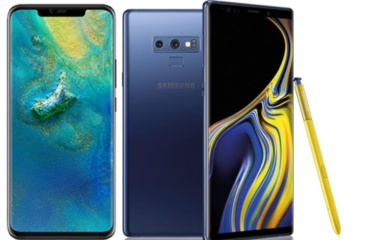 Vergelijking: Huawei Mate 20 Pro vs Samsung Galaxy Note 9