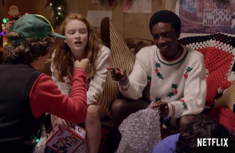 Netflix Stranger Things kunnen geen cadeau's inpakken