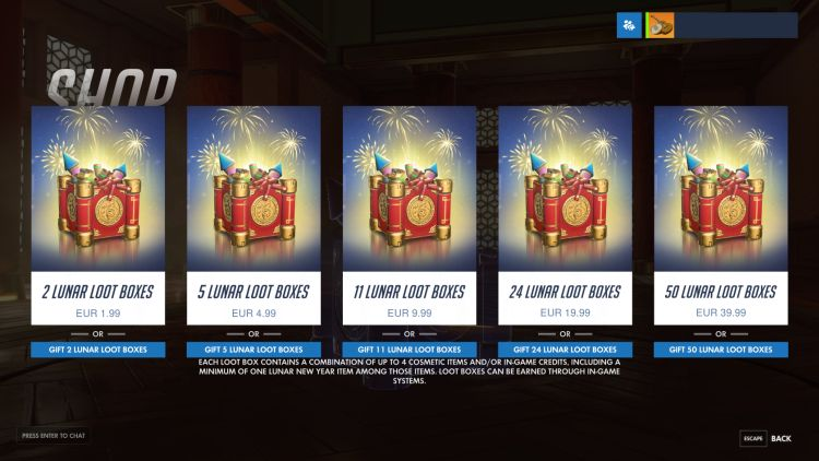 Loot boxes overal