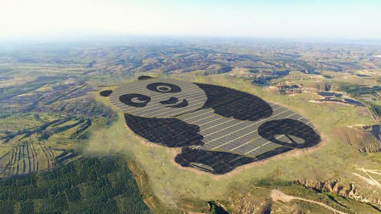 Panda energiepark in China