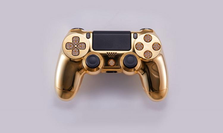 Peperdure gouden PS4 controller