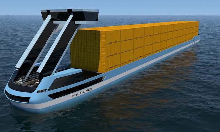 Dit innovatieve containerschip komt naar onze wateren