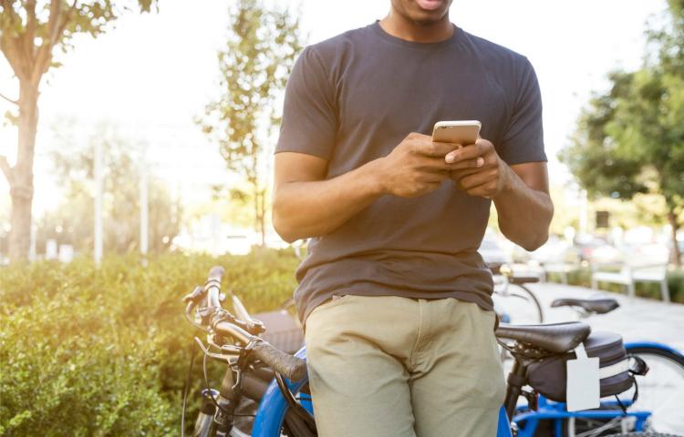 Smartphoneverbod op fiets