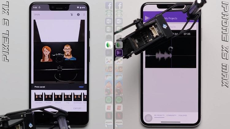 Pixel 3 XL versus iPhone XS Max