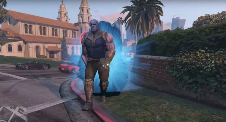 Thanos is een beest, of dat nou in GTA V of Infinity War is