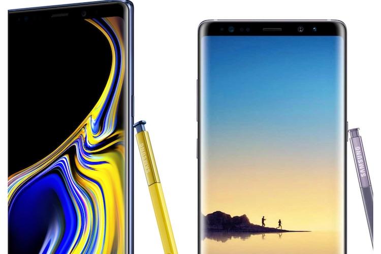 Vergelijking: Samsung Galaxy Note 9 vs Galaxy Note 8