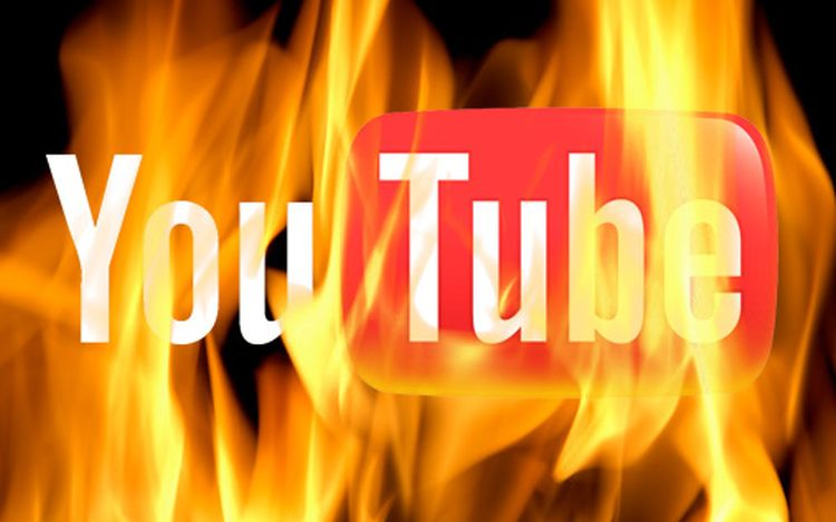 YouTube staat in brand