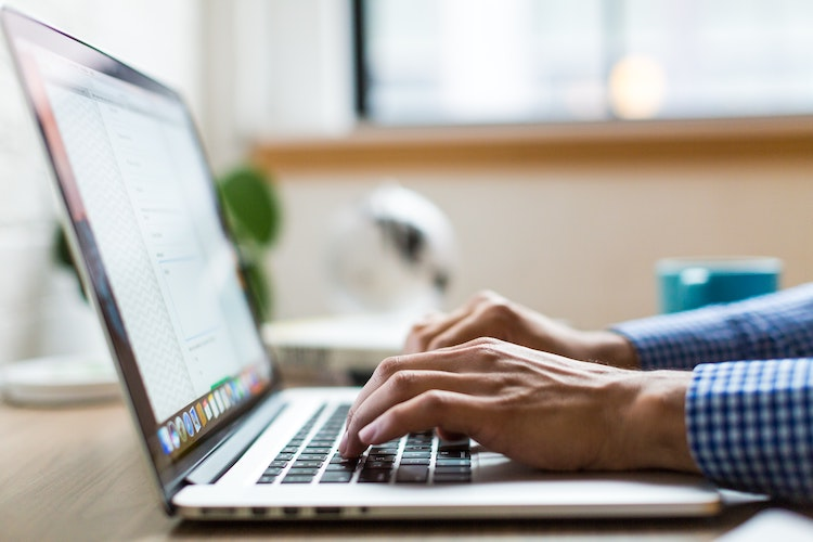 Image result for someone typing on a computer