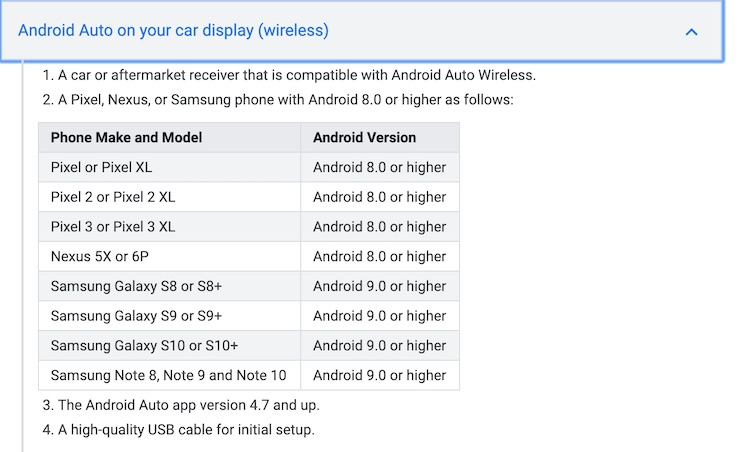 Android Auto nu ook draadloos via je Samsung