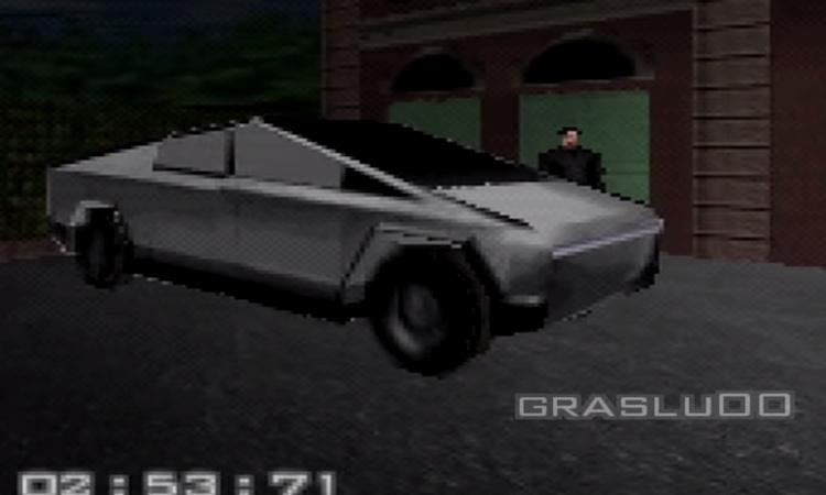 Tesla Cybertruck als speelbare auto in deze game