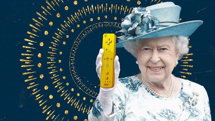 Queen Elizabeth II en haar gouden Wii
