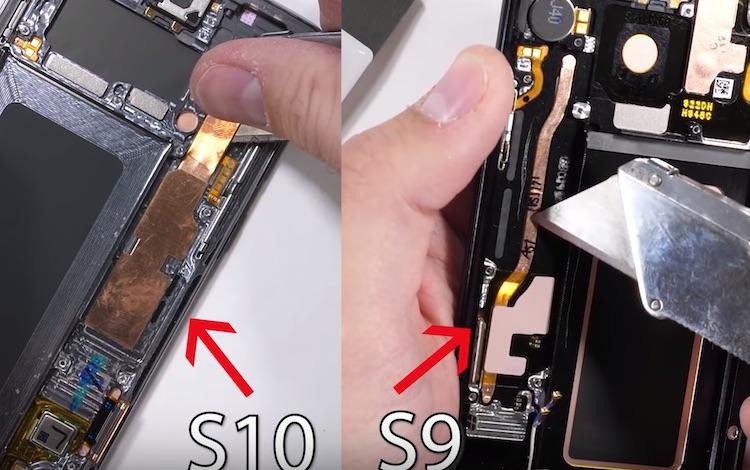 Bekijk de Samsung Galaxy S10 van een andere kant