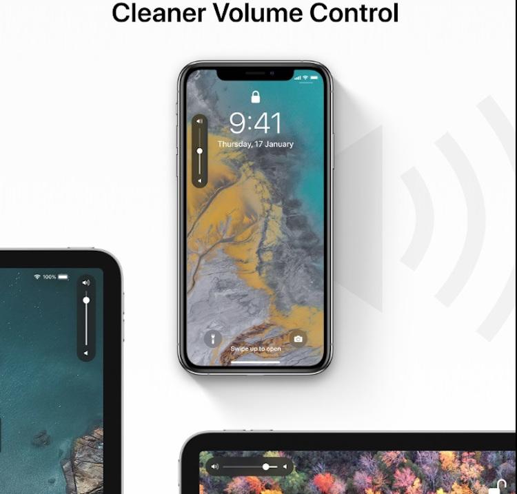 De nieuwe volumeknop in iOS 13