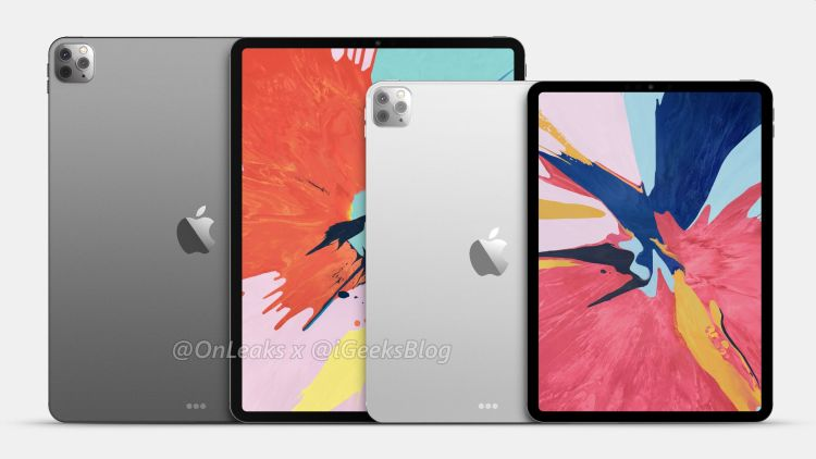 iPad renders onthullen triple camera voor 2020