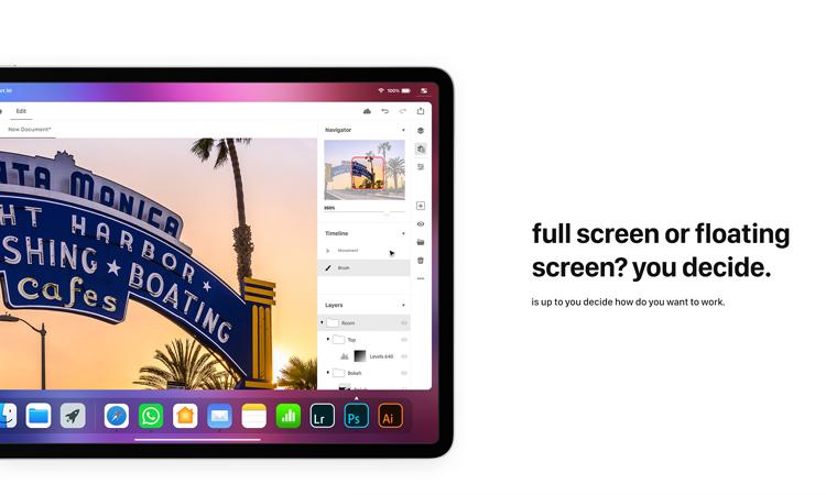 iOS 13 concept voor de iPad Pro