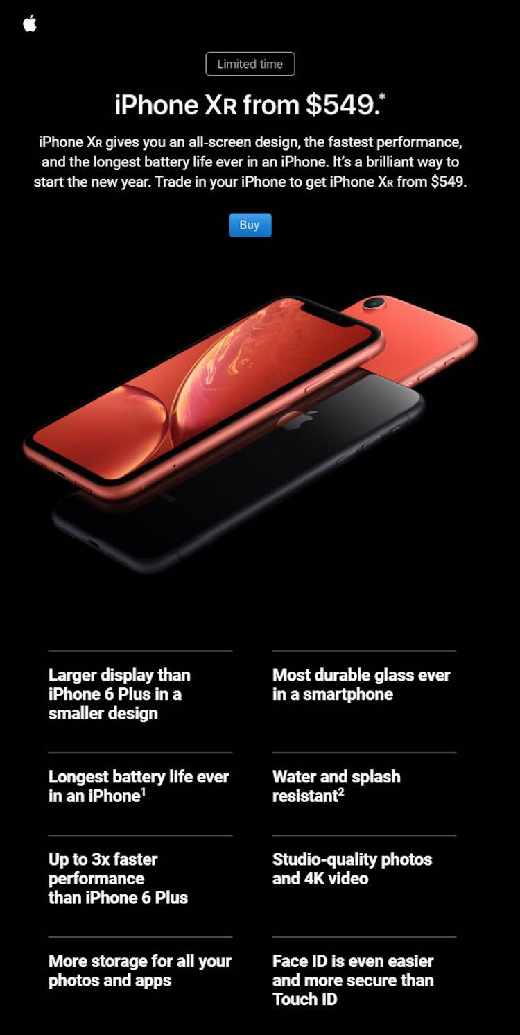 Zo probeert Apple je een nieuwe iPhone XR aan te smeren
