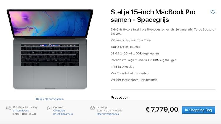 Dit kost de duurste nieuwe MacBook Pro