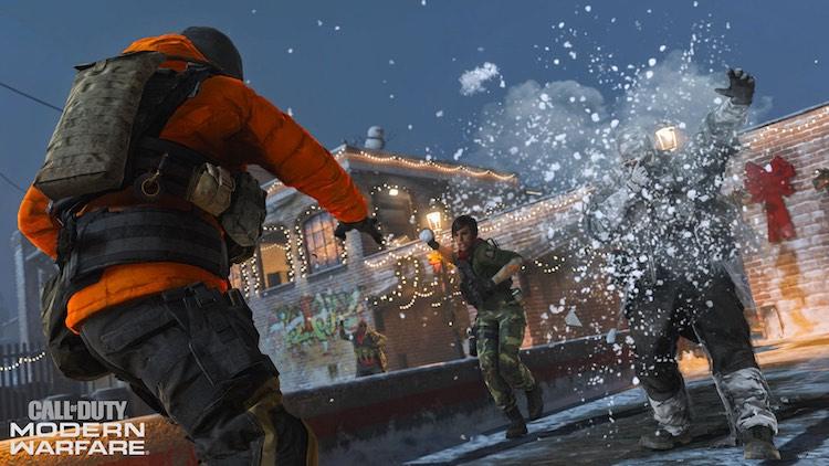 Sneeuwballengevecht in Call of Duty: Modern Warfare