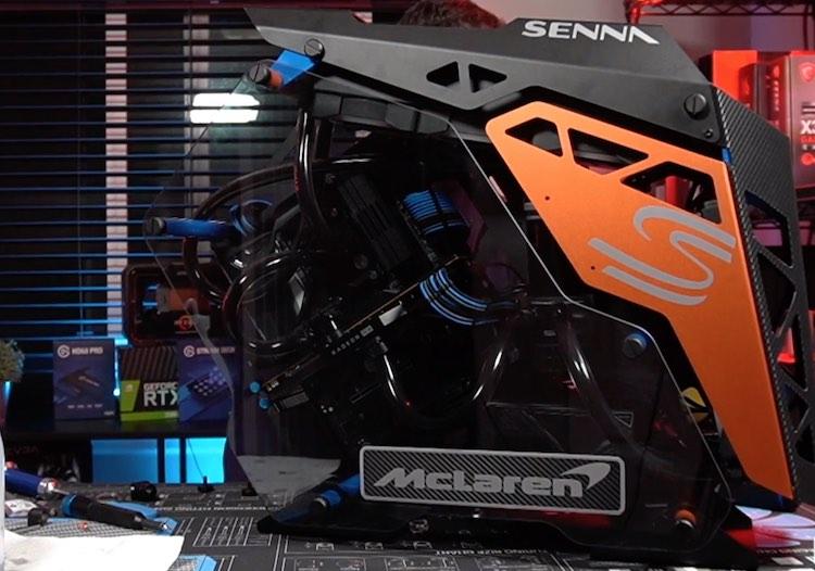 Dit is de McLaren Senna, maar dan als computer