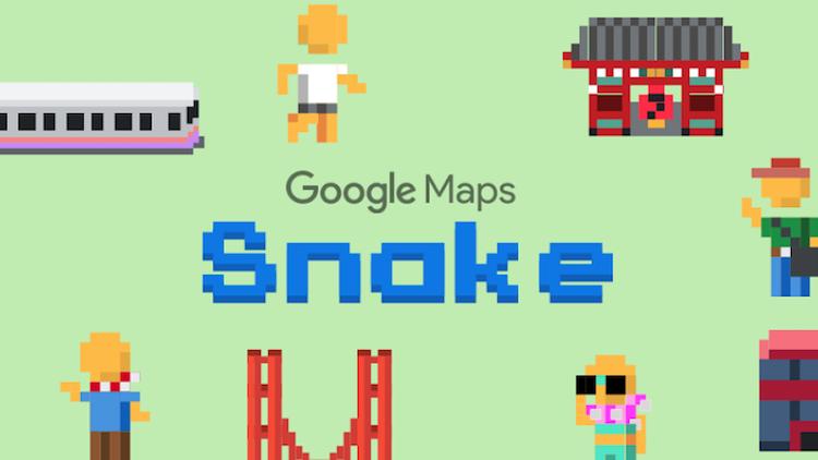 Snake in Google Maps