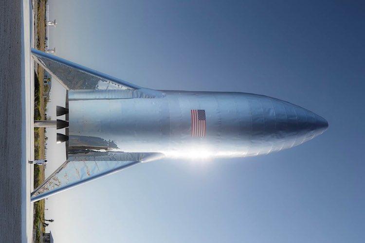 Hier, een échte foto van Elon Musks Starship-raket