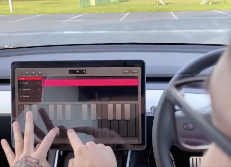 Je kunt nu ook muziek maken in je Tesla