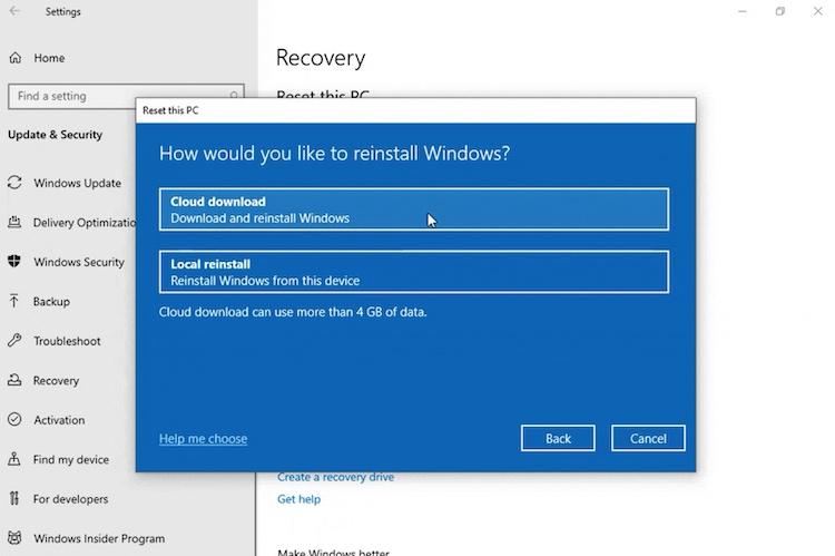 Windows 10 herinstalleren op een totaal andere manier