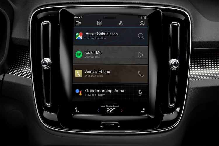 Android-primeur voor de Volvo XC40 Electric